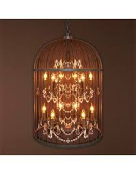 12 light iron cage pendant