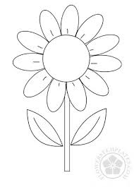 Flowers Templates Daisy Flowers Templates