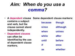 When Do I Use A Comma Do Now Which Of The Following Sentences Need A Comma Ppt