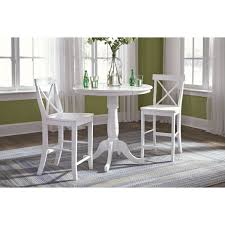 jt386 dining table 36 round dining table with pedestal base pure white
