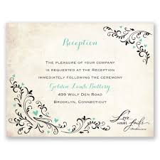 Wedding Ceremony Card Blossoming Love Reception Card Anns Bridal Bargains