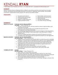Customer Service Representative Retail Resume Example Contemporary X