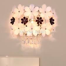 home garden flower 10 4 wall lights romantic flower wall sconce k9
