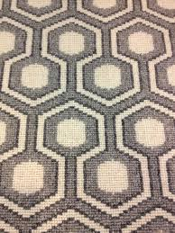 David Hicks designed this updated geometric patterned wool carpet. Offered  for wall to wall installation or fabricated into an area rug of any siz