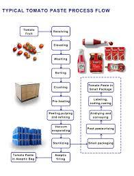 Tomato Sauce Production Flow Chart Hot Item Tomato Paste Processing Line