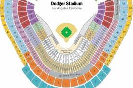 Dodger Stadium Seating Chart Infield Reserve 33 Explanatory Dodgers Stadium Map