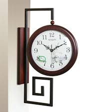 antique double sided wall clock large wall clock double sided wall clock vintage wooden home decor watch clocks digital big vintage double sided wall clock