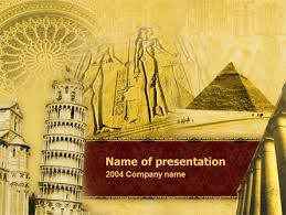 powerpoint templates history historical monuments powerpoint template backgrounds 00113