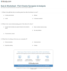 quiz worksheet fish cheeks synopsis analysis com print fish cheeks summary analysis worksheet