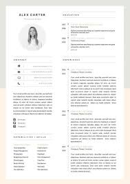 How To Make A Modern Resume In Word Modern Resume Template Cover Letter Icon Set For