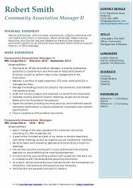 condo association budget template community association manager resume samples qwikresume