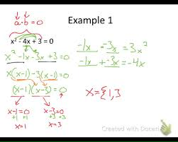solve quadratics by factoring factoring by grouping