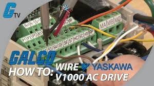 how to wire up a yaskawa v1000 ac drive how to wire up a yaskawa v1000 ac drive