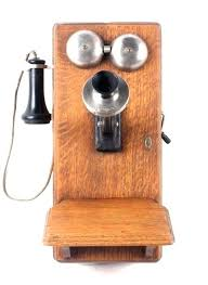 antique wall phone image antique wood