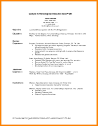 Chronological Resume Template 100 chronological resume example job apply form 52