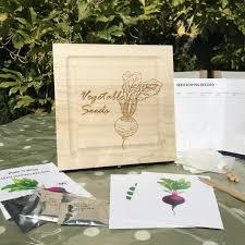 personalised wooden seed storage box