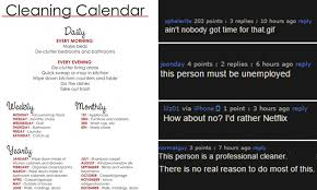 4 Person Chore Chart Imgur Mans Extreme Cleaning Schedule Goes Viral With A