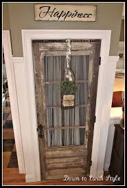 old door for kitchen pantry love this idea
