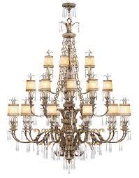 24 light vintage gold leaf chandelier