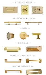 Kitchen Hardware For Cabinets Peonies Brass Brass Obsessed A Hardware Round Up Of The