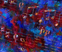 abstract art beethoven moonlight sonata painting by debra hurd