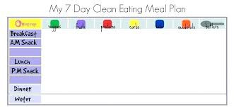 Clean Eating Meal Planning Chart 7 Day Menu Template Bottleapp Co