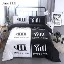 cute bed sets for bedding queen king size double black white duvet