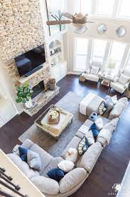 2018 Spring Home Tour Decorating Ideas For Every Room In The House Kelley Nan Farm House Living Room Room Layout Big Living Rooms
