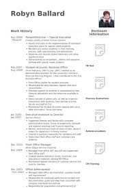 Sample Resume For Paraprofessional Position