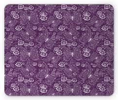Plum Mouse Pad, Floral Romantic Pattern ...