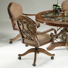 wonderful swivel dining chairs with casters 43 dining room
