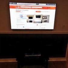 60 samsung smart tv on a tilt mount wires concealed in the wall 55 samsung smart 3d led tv on a flat mount hidden wires and an