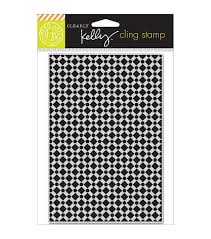 Purkey Tile Designs Hero Arts Kelly Purkey Background Tile Cling Stamp
