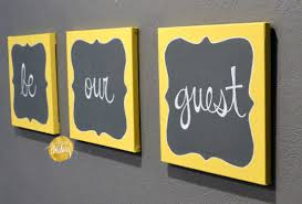 gray and yellow wall decor inspirational be our guest wall decor set