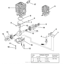 Homelite ut10530a 16in 33cc chain saw parts diagram for engine