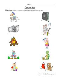 Opposites Worksheets | Have Fun Teaching