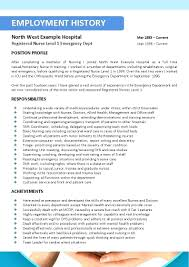 Resume Nursing Job Resume Format