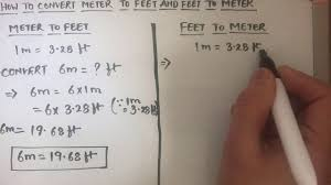 Measurement Conversion Chart Feet To Meters How To Convert Meter To Feet M To Ft And Feet To Meter Ft To M