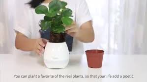 office flower pots. smart mini speaker music flower pot plastic led for office home pots