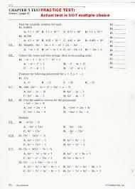 practice 5 quadratic equations algebra 2 chapter tessshlo