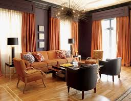 burnt orange and brown living room. Burnt Orange And Chocolate Brown Infuse This Room With Autumn Warmth - Autumn-inspired Interior Living G