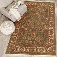 rugsville jaipur hand knotted green rug 5 x 8