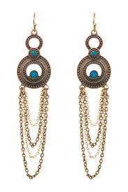 image of sapanyu savannah austrian crystal chandelier earrings