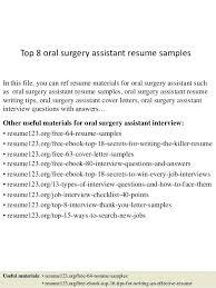 Resume Oral Surgeon Assistant Piqqus Com