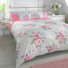 pink quilt bedding. Interesting Pink Duvet Quilt Cover With Pillowcase Bedding Set Floral Rosie Pink Blue White  Roses And U