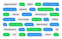 Green Text Bubble Sms Bubbles Short Messages Stock Vector Illustration Of