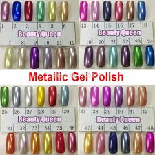 Metallic Mirror Nail Gel Polish Soak Off Uv Led Metal Color Lamp ...
