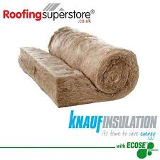 loft roll insulation. 100mm knauf earthwool combi-cut loft insulation roll 44 - 13.89m2 pack