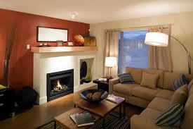 furniture color for small living room. a small living room with unique enclosed fireplace nook next to it. furniture color for n