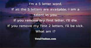 i m a 5 letter word puzzles and riddles